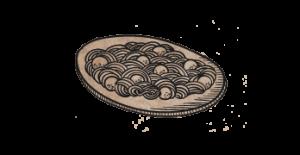 Pastas en el restaurante Guell Tapas